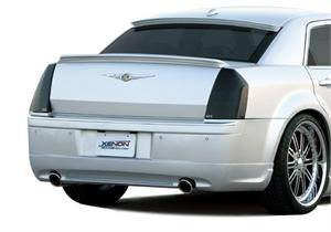 HEMI LIGHTING PARTS - Hemi Blackout Covers - GTS - GT Styling Smoke Tail Light Covers: Chrysler 300 / 300C 2005 - 2007