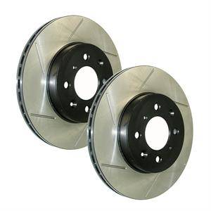 Chrysler 300 Brake Upgrades - Chrysler 300 Brake Rotors - Stoptech - Stoptech Slotted Rear Brake Rotors: 300C / Challenger / Charger / Magnum 5.7L Hemi 2005 - 2019