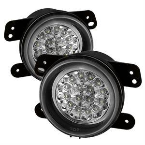 HEMI LIGHTING PARTS - Hemi Fog Lights - Spyder - Spyder LED Fog Lights (Clear): Dodge Magnum 2005 - 2008