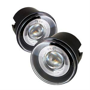 HEMI LIGHTING PARTS - Hemi Fog Lights - Spyder - Spyder Projector Fog Lights (Clear): Dodge Charger SRT8 2006