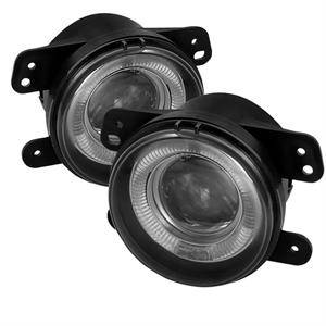 Dodge Magnum Lighting Parts - Dodge Magnum Fog Lights - Spyder - Spyder Halo Projector Fog Lights (Clear): Dodge Magnum 2005 - 2008