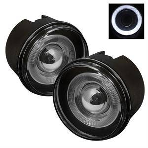 Jeep Grand Cherokee Lighting Parts - Jeep Grand Cherokee Fog Lights - Spyder - Spyder Halo Projector Fog Lights (Smoke): Jeep Grand Cherokee 2005 - 2009