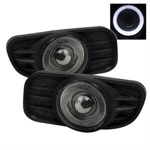 Jeep Grand Cherokee Lighting Parts - Jeep Grand Cherokee Fog Lights - Spyder - Spyder Halo Projector Fog Lights (Smoke): Jeep Grand Cherokee 1999 - 2004