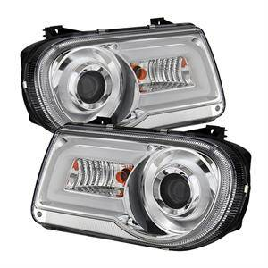 Chrysler 300 Lighting Parts - Chrysler 300 Projector Headlights - Spyder - Spyder LED DRL Projector Headlights (Chrome): Chrysler 300C 2005 - 2010
