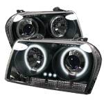 Spyder - Spyder CCFL Dual Halo Projector Headlights (Black): Chrysler 300 2005 - 2008