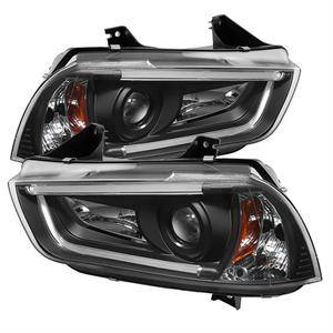 HEMI LIGHTING PARTS - Hemi Headlights - Spyder - Spyder Projector Headlights (Black): Dodge Charger 2011 - 2014