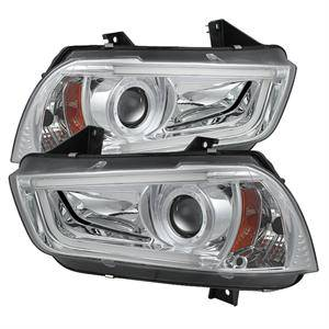 HEMI LIGHTING PARTS - Hemi Headlights - Spyder - Spyder Projector Headlights (Chrome): Dodge Charger 2011 - 2014