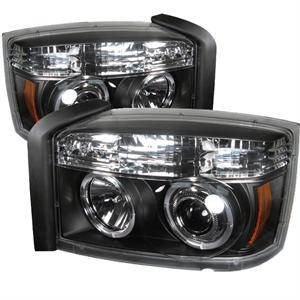 Dodge Dakota Lighting Parts - Dodge Dakota Headlights - Spyder - Spyder LED Halo Projector Headlights (Black): Dodge Dakota 2005 - 2007