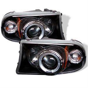 Dodge Dakota Lighting Parts - Dodge Dakota Headlights - Spyder - Spyder LED Halo Projector Headlights (Black): Dodge Dakota / Durango 1997 - 2004