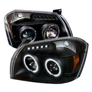 HEMI LIGHTING PARTS - Hemi Headlights - Spyder - Spyder CCFL Dual Halo Projector Headlights (Black): Dodge Magnum 2005 - 2007