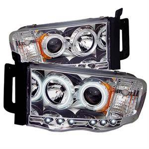 Dodge Ram Lighting Parts - Dodge Ram Headlights - Spyder - Spyder CCFL Halo Projector Headlights (Chrome): Dodge Ram 2002 - 2005
