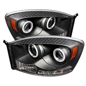 Spyder - Spyder LED Halo Projector Headlights (Black): Dodge Ram 2009 - 2014