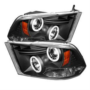 Dodge Ram Lighting Parts - Dodge Ram Headlights - Spyder - Spyder CCFL Halo Projector Headlights (Black): Dodge Ram 2009 - 2014