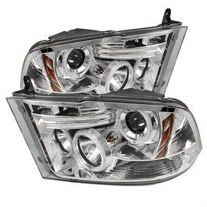 Dodge Ram Lighting Parts - Dodge Ram Headlights - Spyder - Spyder LED Halo Projector Headlights (Chrome): Dodge Ram 2009 - 2014