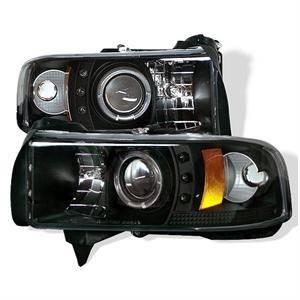 Dodge Ram Lighting Parts - Dodge Ram Headlights - Spyder - Spyder CCFL Halo Projector Headlights (Black): Dodge Ram 1994 - 2002