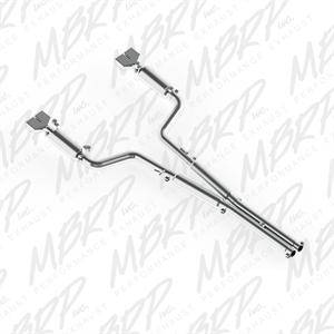 "MBRP - MBRP Cat-Back 3"" Dual Split Rear Exhaust: Dodge Challenger 5.7L V8 2009 - 2014"