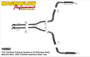 Dodge Viper Engine Performance - Dodge Viper Exhaust System - Magnaflow - MagnaFlow Cat-Back Exhaust: Dodge Viper 1996 - 2002