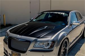 Chrysler 300 Exterior Parts - Chrysler 300 Hood - TruFiber - TruFiber A58 Fiberglass Hood: Chrysler 300 2011 - 2019