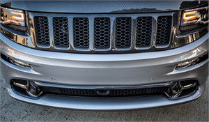 Jeep Grand Cherokee Exterior Parts - Jeep Grand Cherokee Grille - TruCarbon - TruCarbon LG194 Carbon Fiber Upper Grille: Jeep Grand Cherokee 2014 - 2016