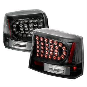 Dodge Charger Lighting Parts - Dodge Charger Tail Lights - Spec D - Spec D LED Tail Lights (Black): Dodge Charger 2006 - 2008