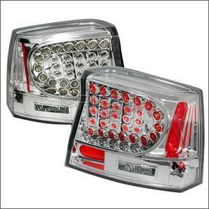 HEMI LIGHTING PARTS - Hemi Tail Lights - Spec D - Spec D LED Tail Lights (Chrome): Dodge Charger 2006 - 2008