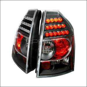 HEMI LIGHTING PARTS - Hemi Tail Lights - Spec D - Spec D LED Tail Lights (Black): Chrysler 300C 2005 - 2007