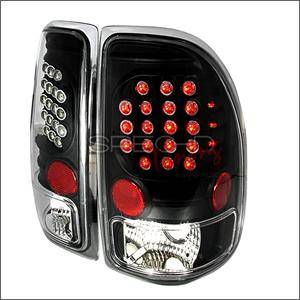 HEMI LIGHTING PARTS - Hemi Headlights - Spec D - Spec D LED Tail Lights (Black): Dodge Dakota 1997 - 2004