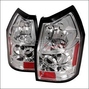 Dodge Magnum Lighting Parts - Dodge Magnum Tail Lights - Spec D - Spec D Euro Tail Lights (Chrome): Dodge Magnum 2005 - 2008