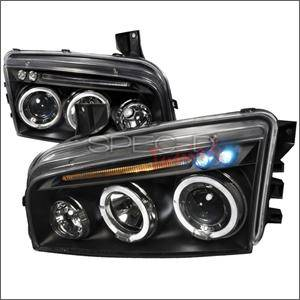 HEMI LIGHTING PARTS - Hemi Headlights - Spec D - Spec D LED HeadLights (Black): Dodge Charger 2005 - 2010