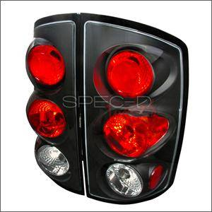 HEMI LIGHTING PARTS - Hemi Tail Lights - Spec D - Spec D Euro Tail Lights (Black): Dodge Ram 2002 - 2006