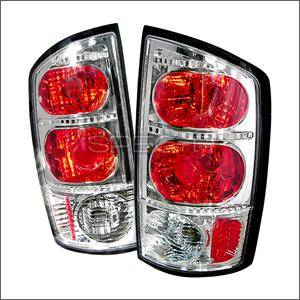 HEMI LIGHTING PARTS - Hemi Tail Lights - Spec D - Spec D Euro Tail Lights (Chrome): Dodge Ram 2002 - 2006