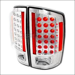 HEMI LIGHTING PARTS - Hemi Tail Lights - Spec D - Spec D LED Tail Lights (Chrome): Dodge Ram 2007 - 2008