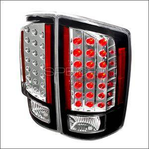 Dodge Ram Lighting Parts - Dodge Ram Tail Lights - Spec D - Spec D LED Tail Lights (Black): Dodge Ram 2007 - 2008