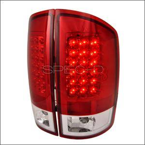 Dodge Ram Lighting Parts - Dodge Ram Tail Lights - Spec D - Spec D LED Tail Lights (Red): Dodge Ram 2002 - 2006