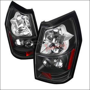 Spec D - Spec D Euro Tail Lights (Black): Dodge Magnum 2005 - 2008