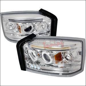 Dodge Dakota Lighting Parts - Dodge Dakota Headlights - Spec D - Spec D LED Projector HeadLights (Chrome): Dodge Dakota 2005 - 2007