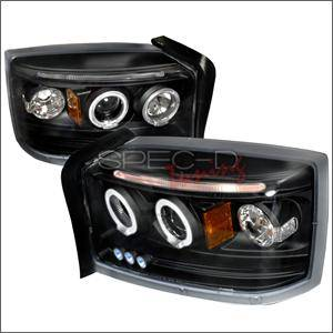 Dodge Dakota Lighting Parts - Dodge Dakota Headlights - Spec D - Spec D LED Projector HeadLights (Black): Dodge Dakota 2005 - 2007