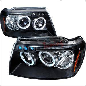 Spec D - Spec D LED Projector HeadLights (Black): Jeep Grand Cherokee 1999 - 2004