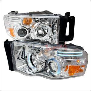 Dodge Ram Lighting Parts - Dodge Ram Headlights - Spec D - Spec D CCFL Projector Headlights (Chrome):Dodge Ram 2002 - 2005