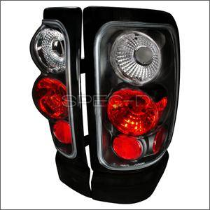 HEMI LIGHTING PARTS - Hemi Tail Lights - Spec D - Spec D Euro Tail Lights (Black): Dodge Ram 1994 - 2001