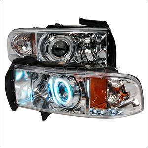 HEMI LIGHTING PARTS - Hemi Headlights - Spec D - Spec D CCFL Projector Headlights (Chrome):Dodge Ram 1994 - 2001