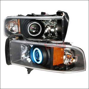 Spec D - Spec D CCFL Projector Headlights (Black):Dodge Ram 1994 - 2001