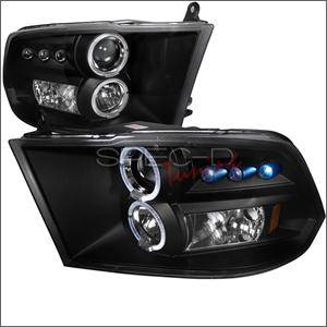 HEMI LIGHTING PARTS - Hemi Headlights - Spec D - Spec D LED Projector HeadLights (Black): Dodge Ram 2009 - 2016