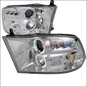 Dodge Ram Lighting Parts - Dodge Ram Headlights - Spec D - Spec D LED Projector HeadLights (Chrome): Dodge Ram 2009 - 2016