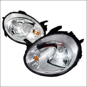 Dodge Neon SRT4 Lighting Parts - Dodge Neon SRT4 Headlights - Spec D - Spec D Euro Head Lights (Chrome): Dodge Neon 2003 - 2005