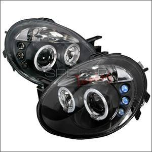Dodge Neon SRT4 Lighting Parts - Dodge Neon SRT4 Headlights - Spec D - Spec D LED HeadLights (Black): Dodge Neon 2003 - 2005