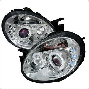 Dodge Neon SRT4 Lighting Parts - Dodge Neon SRT4 Headlights - Spec D - Spec D LED HeadLights (Chrome): Dodge Neon 2003 - 2005