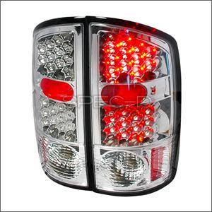 Dodge Ram Lighting Parts - Dodge Ram Tail Lights - Spec D - Spec D LED Tail Lights (Chrome): Dodge Ram 2002 - 2006