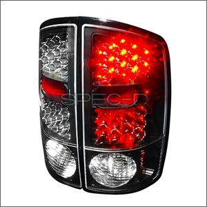 HEMI LIGHTING PARTS - Hemi Tail Lights - Spec D - Spec D LED Tail Lights (Black): Dodge Ram 2002 - 2006