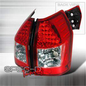 HEMI LIGHTING PARTS - Hemi Tail Lights - Spec D - Spec D LED Tail Lights (Red): Dodge Magnum 2005 - 2008